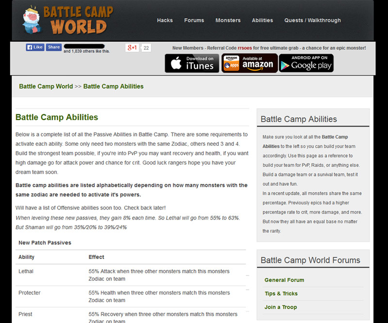 Battle Camp World example 1